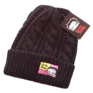 ネコポス送料無料 ベティブープ ニット帽 BTAP80 フェイス BK ニット キャップ あったか ウォーマー キャラクター グッズ|babu