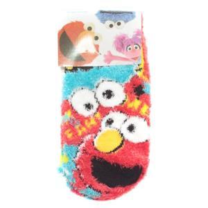 8足購入でネコポス送料無料 セサミストリート キッズ もこもこ 靴下 アップ RMS0103 子供用 ルームソックス キャラクター グッズ babu