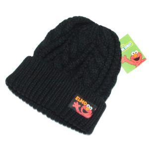 ネコポス送料無料 セサミストリート ニット帽 エルモ BK SEAP248 ニット キャップ あったか ウォーマー キャラクター グッズ babu