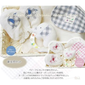 出産祝い 安心の上質オーガニック 新生児ベビーギフト カゴミニ-3・オーガニック カゴミニ−3・ baby-arte