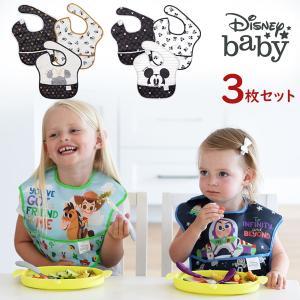 バンキンス 3枚セット ディズニー Disney ミッキー ミニー トイストーリー 防水仕様のスーパービブ(お食事エプロン) ★ビタット進呈中★|baby-jacksons