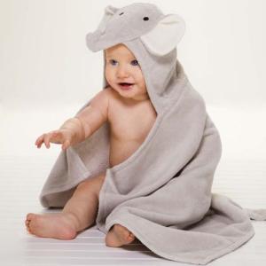 赤ちゃんがかわいい動物に♪ ベビー用アニマルバスラップ (バスタオル/バスローブ) ぞうさん|baby-jacksons