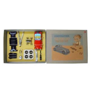 ブリキのおもちゃ[玩具] 組立式 MG レッド 【専用ドライバー・ペンチ付き】|baby-jacksons