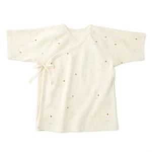 あすつく ベビー 子供服 キムラタン 愛情設計 日本製 オーガニック コットン フライス てんとうむし短肌着 50cm|baby-kids-kimuratan