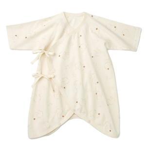 あすつく ベビー 子供服 キムラタン 愛情設計 日本製 オーガニック コットン フライス てんとうむし コンビ肌着 50 60cm|baby-kids-kimuratan