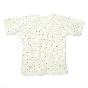 あすつく ベビー 子供服 キムラタン 愛情設計 日本製 フライス ドットプリント短肌着 50cm|baby-kids-kimuratan