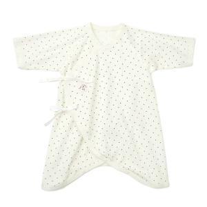 あすつく ベビー 子供服 キムラタン 愛情設計 日本製 フライス ドットプリント コンビ肌着 50 60cm|baby-kids-kimuratan
