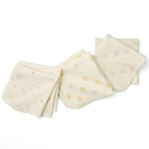 あすつく ベビー 子供服 キムラタン 愛情設計 日本製 オーガニック コットン ガーゼハンカチ2枚組|baby-kids-kimuratan