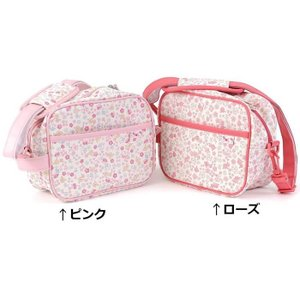 新入園の準備に♪うさぎちゃんとキティちゃんのオリジナル小花柄が可愛い通園バッグ♪外側には大きなポケッ...