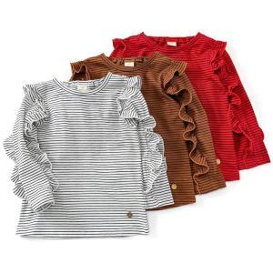 デイリーアイテムにぴったりなTシャツ☆オシャレな配色のボーダーでコーディネートのポイントに!  ■写...