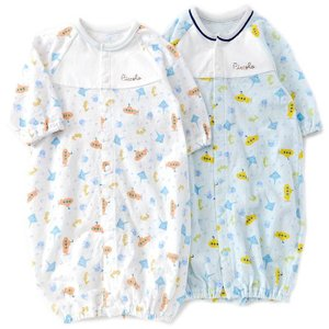 2WAY仕様のベンリードレス☆綿100%のメッシュ素材で通気性に優れ、汗かきの赤ちゃんにも安心!かわ...