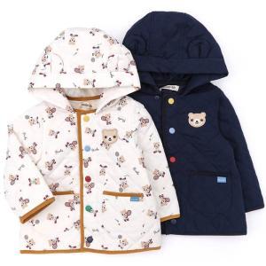 キルティングデザインがポイントのジャケット♪フードが取り外せて、ノーカラーで着てもとっても可愛い!一...