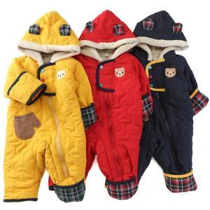 寒い冬もへっちゃらのジャンプスーツ☆波キルトデザインが今っぽくておしゃれ!(*^ー^)♪  ■写真1...
