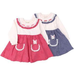 子供服 女の子 キムラタン coeur a coeur クーラクール  ワンピース 70 80 90 95 100 本体綿100%|baby-kids-kimuratan