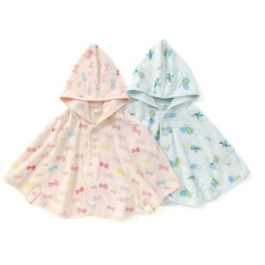 あすつく ベビー 女の子 男の子 キムラタン BABBLE BOON バブルブーン 50〜80 ポンチョ|baby-kids-kimuratan