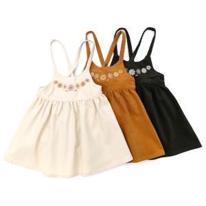 子供服 女の子 キムラタン Lily ivory リリー アイボリー  ジャンパースカート 80 90 95 100 110 120 130 本体綿100%|baby-kids-kimuratan