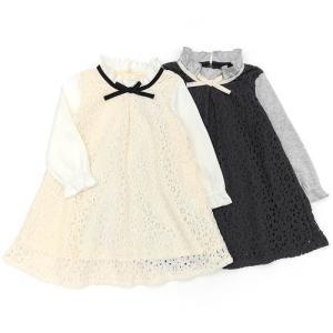子供服 女の子 キムラタン Lily ivory リリー アイボリー  ワンピース 80 90 95 100 110 120 130|baby-kids-kimuratan
