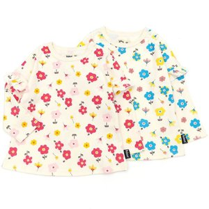 【nousノベルティ対象商品】あすつく 子供服 女の子 キムラタン Bobson ボブソン  Tシャツ(長袖) 80 90 95 100 110 120 130 綿100%|baby-kids-kimuratan