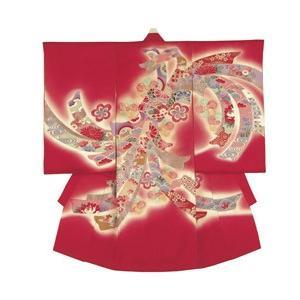 レンタル 正絹お宮参り衣装 24-80-4(小物3点セット付き) 女の子用 貸衣装 着物 初着 産着 和装 ベビー用品 赤ちゃん用品|baby-land