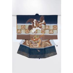レンタル 正絹お宮参り衣装 24-71-5(小物3点セット付き) 男の子用 貸衣装 着物 初着 産着 和装 ベビー用品 赤ちゃん用品|baby-land