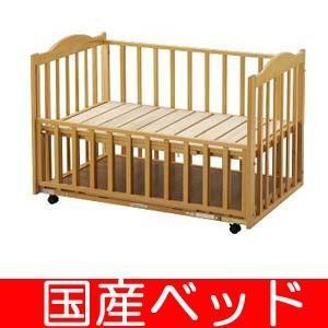 レンタル延長1ヶ月 床板すのこベッド(収納棚付き) 中型(120) レンタルベビーベッド ベビー用品|baby-land