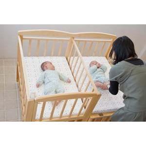 【レンタル12ヶ月】双子用 ジェミニ ベビーベッド / 2オープン ベビーベッド Je-miniレンタルベビーベッド ベビー用品|baby-land