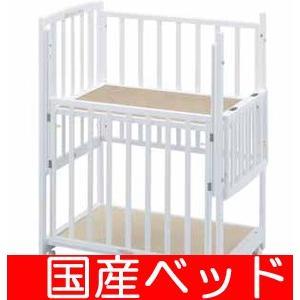 【レンタル】ツーオープンコンパクト 小物置き板付 スクエア(90×60) レンタルベビーベッド ベビー用品|baby-land