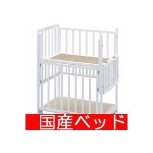 レンタル延長1ヶ月ツーオープンコンパクト 小物置き板付 スクエア(90×60) レンタルベビーベッドベビー用品|baby-land
