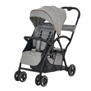 【二人乗りベビーカー】ベビーカー 2-Seater (グレー)41008 / 大容量カゴ 2シーター 2人でゴー シットアンドスタンド|baby-land