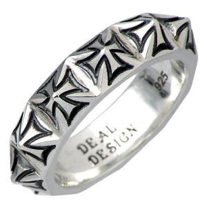 ディールデザイン DEAL DESIGN シルバー リング 指輪 メンズ レディース クロススタッズ|baby-sies
