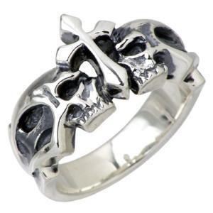 ディールデザイン DEAL DESIGN シルバー リング 指輪 メンズ レディース シルバー クラウン スカル リング|baby-sies