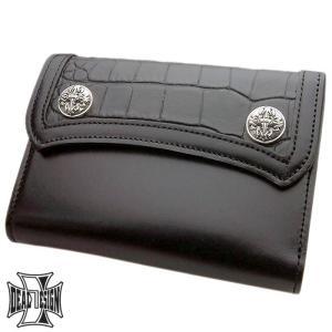 DEAL DESIGN ディールデザイン ミディアム インレイアックスカット ウォレット メンズ 財布 サイフ...