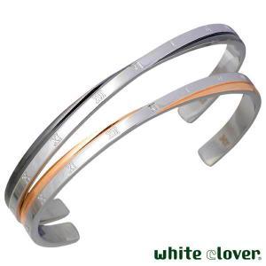 white clover ホワイトクローバー ダイヤモンド ローマ ステンレス ペア バングル ゴールド ブラック baby-sies