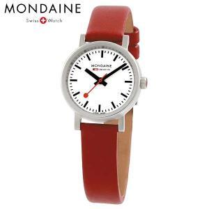 Mondaine モンディーン ウォッチ エヴォ レディース ホワイトダイアル レッドレザー 腕時計 A658.30301.11SBC baby-sies