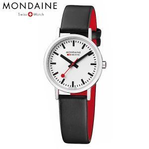 Mondaine モンディーン ウォッチ ニュークラシック レディース ホワイトダイアル ブラックレザー 腕時計 A658.30323.11SBB baby-sies