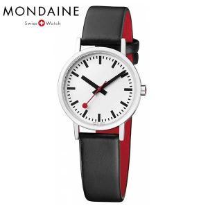 Mondaine モンディーン ウォッチ クラシックピュア 30mm レディース ホワイトダイアル ブラックレザー 腕時計 A658.30323.16OM baby-sies