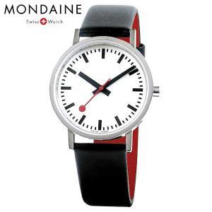 Mondaine モンディーン ウォッチ クラシックピュア 36mm メンズ ホワイトダイアル ブラックレザー 腕時計 A660.30314.16OM baby-sies