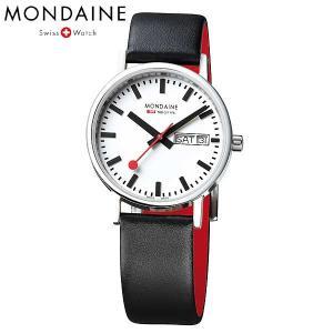 Mondaine モンディーン ウォッチ ニュークラシック デイデイト メンズ ホワイトダイアル ブラックレザー 腕時計 A667.30314.11SBB baby-sies