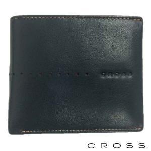 CROSS クロス 二つ折り財布 札入れ ショートウォレット NUEVA ネイビー|baby-sies