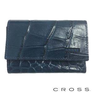 CROSS クロス キーケース COCO キーホルダー ネイビー|baby-sies