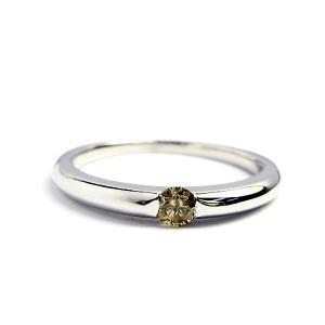 誕生石 一粒カラーストーン シルバー リング 4月 ブラウンダイヤモンド 指輪|baby-sies