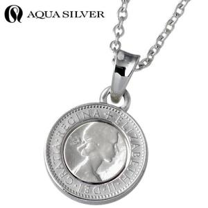 AQUA SILVER アクアシルバー シルバー ネックレス メンズ レディース コイン|baby-sies