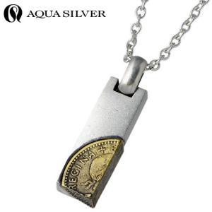 AQUA SILVER アクアシルバー シルバー ネックレス メンズ レディース コイン