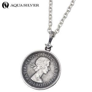 AQUA SILVER アクアシルバー シルバー ネックレス メンズ レディース 誕生石 コイン ダイヤモンド baby-sies