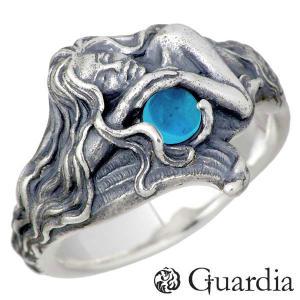 Guardia ガルディア Tritones シルバー リング ブルームーンストーン 人魚 指輪 1〜17号...