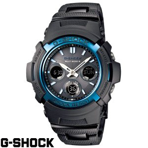 G-SHOCK CASIO カシオ・Gショック ブラック×ブルー AWG-M100BC-2AJF 国内正規モデル|baby-sies