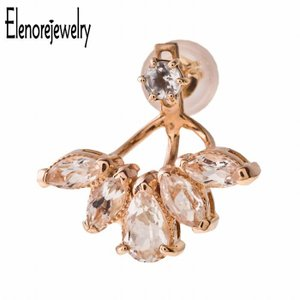 Elenore Jewelry エレノアジュエリー 10K ゴールド ピアス ブルーム トパーズ イ...