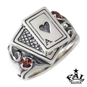 F.A.L FAL エフエーエル シルバー リング 指輪 メンズ インディビジュアル カード ハート|baby-sies