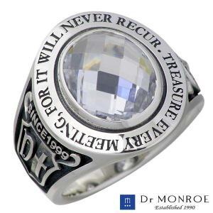 Dr MONROE ドクターモンロー シルバー リング メンズ 一粒 カレッジ リング 指輪 baby-sies