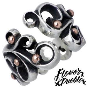 Flower Pueblo フラワープエブロ リーフ シルバー リング L 指輪|baby-sies
